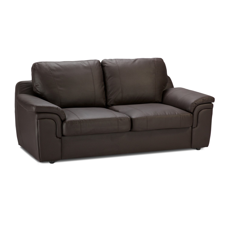 Worldstores Essentials Amy 3 Sitzer Leder Sofa 3 Sitzer
