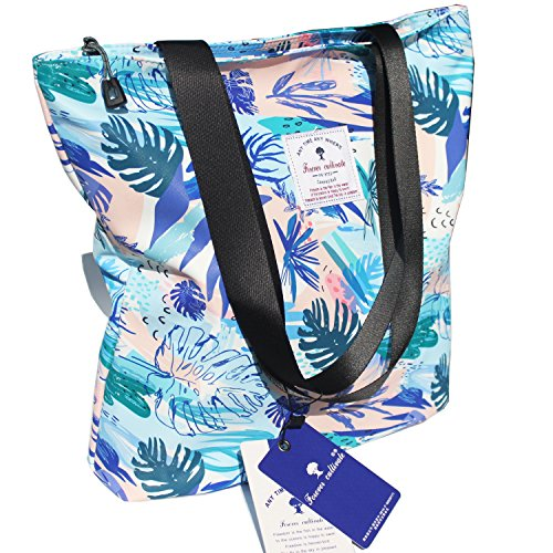 Original Floral Tote Bag Shoulder Bag for Gym Hiking Picnic Travel Beach