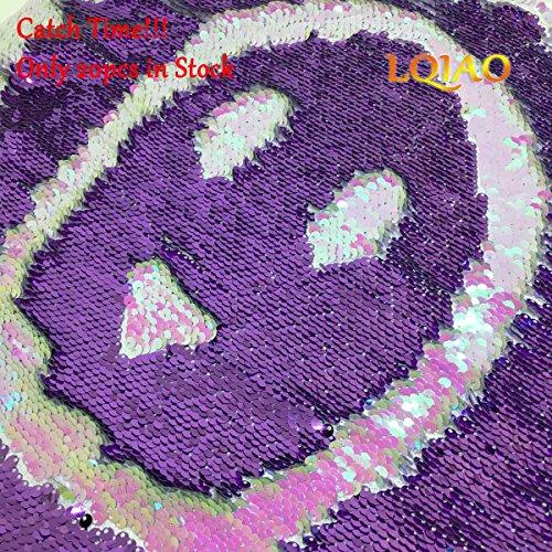 6fe71b7ab7f743 2018 New Iridescent White Lavender Reversible Sequin Fabric Mermaid Glitz Flip  Up Fabric for clothing  Handbag Bikini Cushion Cover Wedding Backdrop-0.5  ...