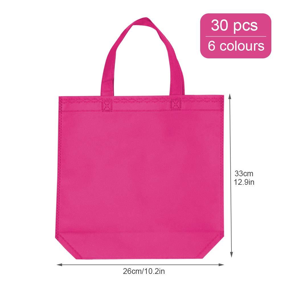 Amazon.com: Bolsa no tejida, 30 bolsas de regalo para fiesta ...