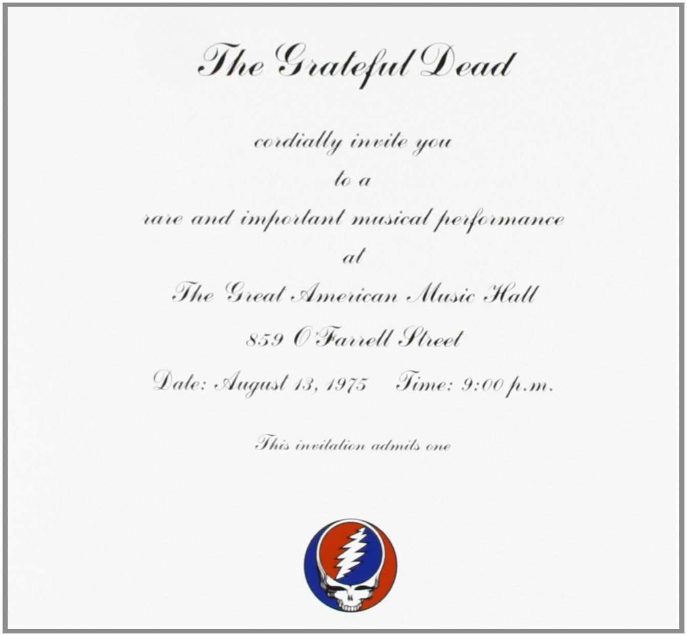 Grateful Dead From the Vault Box Set Amazoncom Music