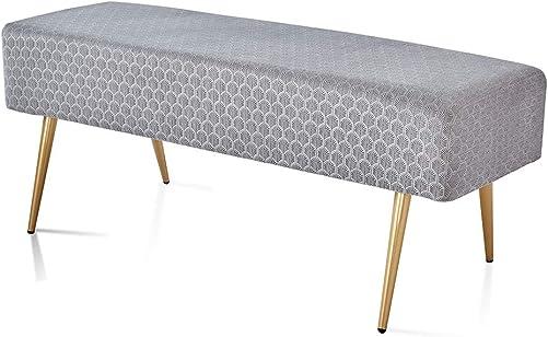 Mxfurhawa 45.7 Inches Modern Velvet Ottoman Rectangular Bench Footstool