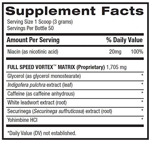 BPI Sports 1.M.R. Vortex Pre Workout Powder, Snow Cone, 5.3 Ounce