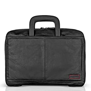 Brune For Men Black Leather Office Bag: Amazon.in: Bags, Wallets ...