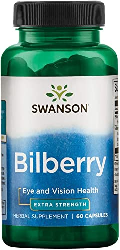 Swanson Extra-Strength Bilberry Standardized 100 Milligrams 60 Capsules