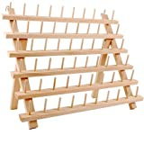 NW Wooden Thread Holder Sewing and Embroidery Thread Rack and Organizer Thread Rack for Sewing (60-Spool)