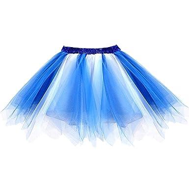 Ellames Damen 50er Vintage Petticoat Party Dance Tutu Rock Ballkleid ...