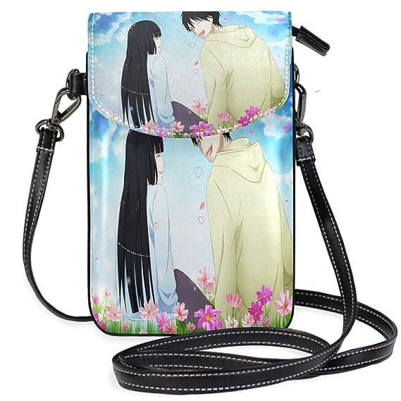 690160fef906 Amazon.com: Sweet Love Anime Wallpaper Small Crossbody Bag Cell ...