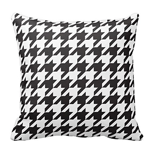 Tshirts-Online Black and White Houndstooth Square Decorative