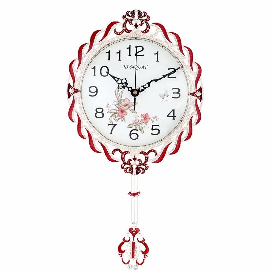 時計 おしゃれ 掛時計 壁掛け 掛け時計 リビング 現代 シンプル ファッション シズネ 個性 レッド SFANY B07DXJL56T レッド レッド