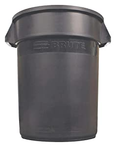 Food-Grade Waste Container, 20 gal, Blk
