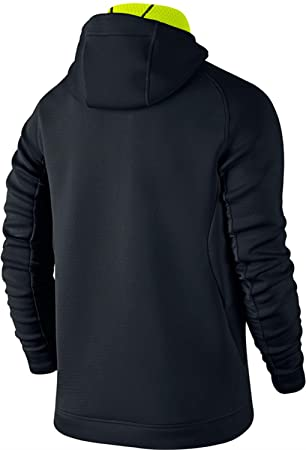 Nike Mens Therma-Sphere Max Training Hoodie Jacket, Black/Volt/Black/