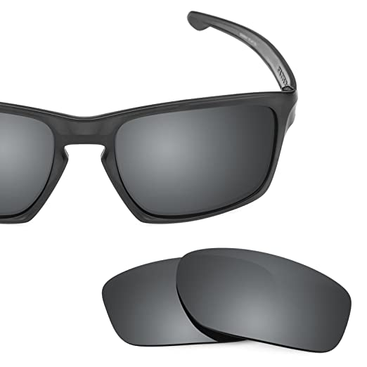 69ceac12a50 Revant Polarized Replacement Lenses for Oakley Sliver Elite Black Chrome  MirrorShield