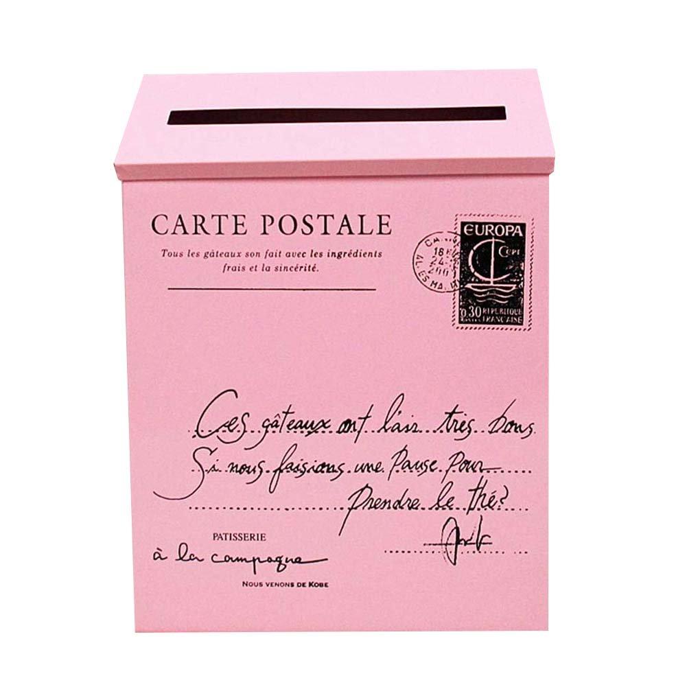 Junda Decorative Mailbox Letter Post Box, Countryside Retro & Wall Mounted, Iron Made and Waterproof, Multicolored by Junda (Image #1)