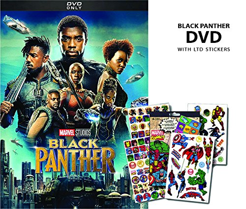 Amazoncom Black Panther Dvd Bundle Ltd Sticker Sheet Chadwick