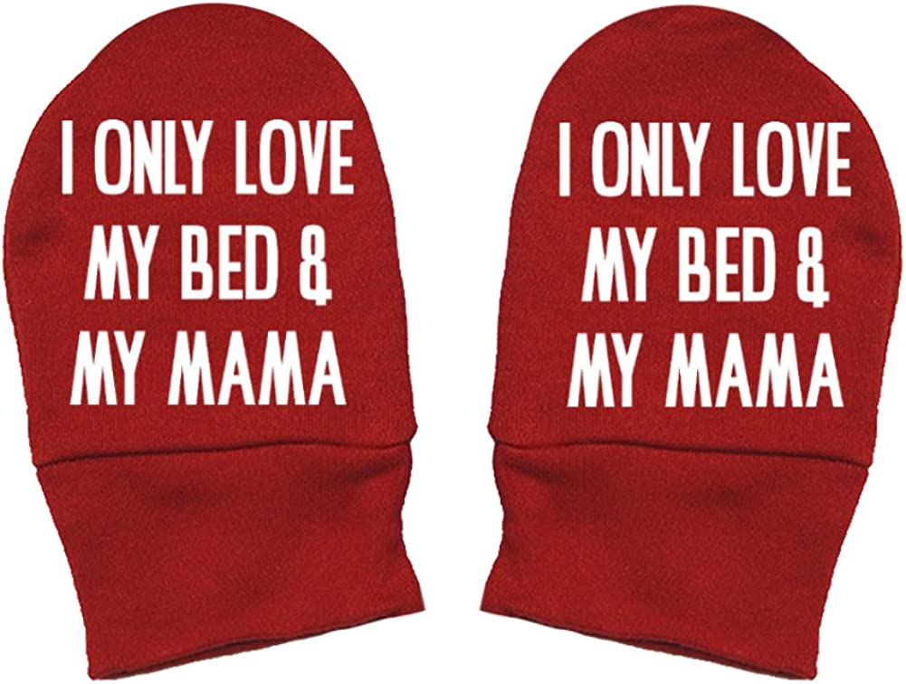 Thick Premium Thick /& Soft Baby Mittens Mommy Gift Mothers Day I Only Love My Bed And My Mama Mashed Clothing