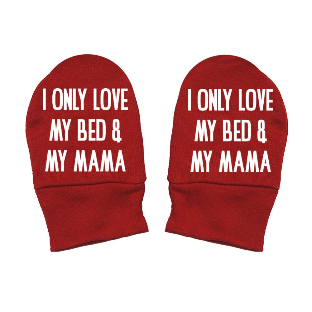 I Only Love My Bed And My Mama Thick /& Soft Baby Mittens Thick Premium Mashed Clothing Mommy Gift Mothers Day