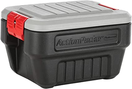 Rubbermaid Actionpacker Boite De Rangement Noir 8 Gal 4 Pack Amazon Fr Cuisine Maison