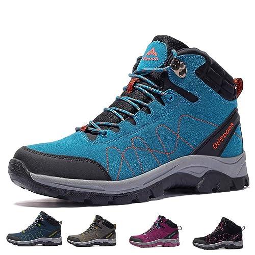 f81b90d19f308 Hombre Botas de Trekking y Senderismo Impermeables Aire Libre y Deportes  Exterior Mujer Zapatos para 35-45 EU  Amazon.es  Zapatos y complementos