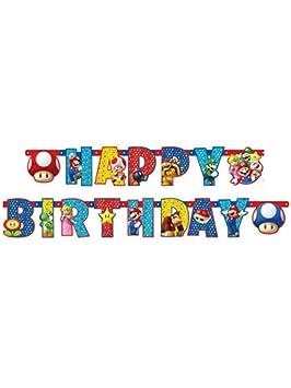 amscan Pancarta articulado Happy Birthday personalizable dibujo de 190 x 18 cm de, Multicolor, 7am9901542