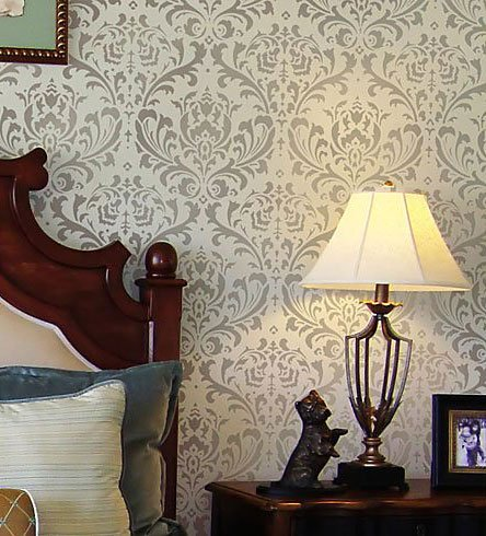 Damask Stencil Anna Reusable Large Wall Stencils Diy Decor