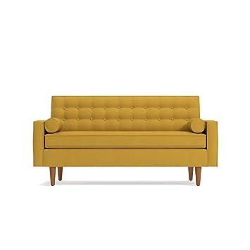 Amazon.com: Saturn Apartment Size Sofa Mustard: Kitchen & Dining