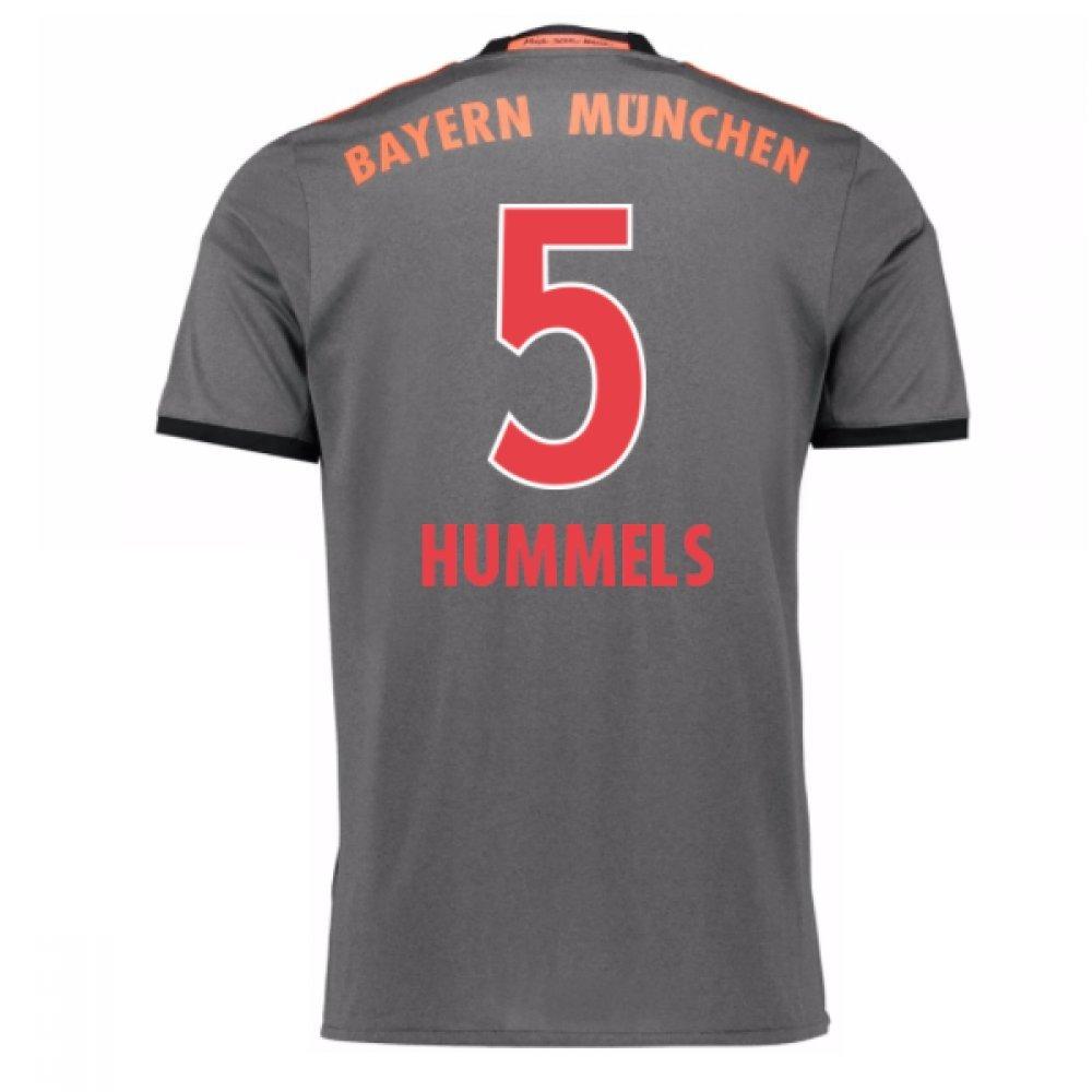 2016-17 Bayern Munich Away Shirt (Hummels 5) B077YWGMT9Grey Large 42-44\