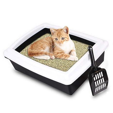 PENVEAT - Arenero para Gatos (tamaño Grande, semicerrado ...