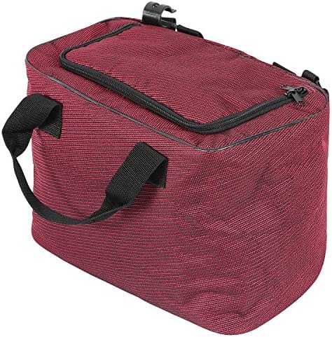REDCAMP 15L(14 Can) Collapsible Cooler Bag Insulated for Beach Wagon Cart, Durable Oxford Soft Small Carrier Bag for Outdoor Picnic All Terrain Wagon, Wine Red