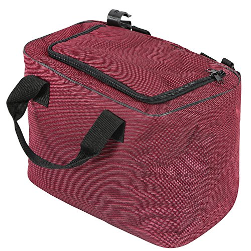 REDCAMP 15L Soft Beach Cooler Bag for Utility Wagon, Wine Red