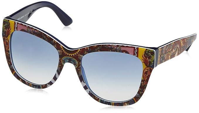 Dolce & Gabbana Damen Sonnenbrille 0DG4270 303619, Blau (Top Handcart/Bluette/Bluette Gradient), 55