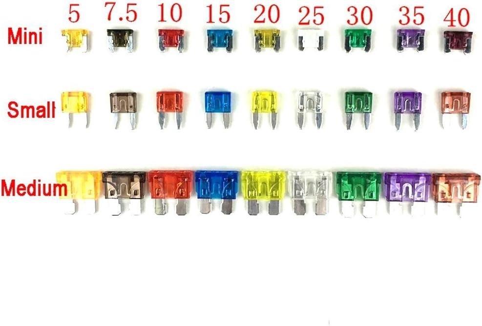 Xmssit 270 Pcs Auto Sicherungen Mini Kleine Mittelgroß Elektronik