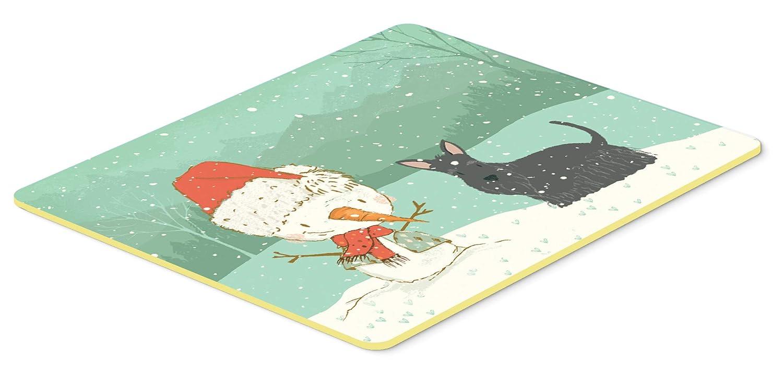 Caroline's Treasures CK2068CMT スコティッシュテリア 雪だるま クリスマス キッチンまたはバスマット 20x30 高さ20x幅30インチ マルチカラー   B07J1XV6JL