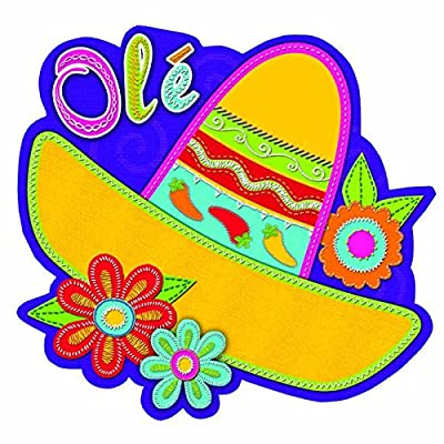 Cinco De Mayo Fiesta Sombrero With Flowers Cutout | Party Decoration: Kitchen & Dining