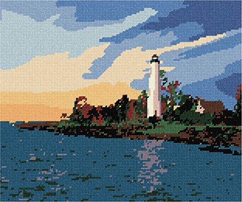 pepita Lighthouse At Dawn Needlepoint Canvas