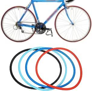 SolUptanisu Neumáticos Sólidos de Bicicleta,700 x 23c Neumáticos de Bicicleta sin Cámara Rueda Sólidos de Ciclismo de Bicicleta de Montaña de Carreras MTB BMX, Negro, Azul, Rojo(Azul): Amazon.es: Deportes y aire libre