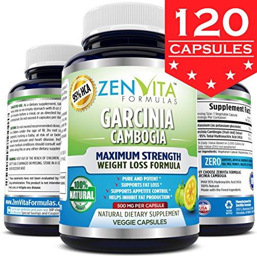 95% HCA Pure Garcinia Cambogia Extract 120 Capsules - Highes