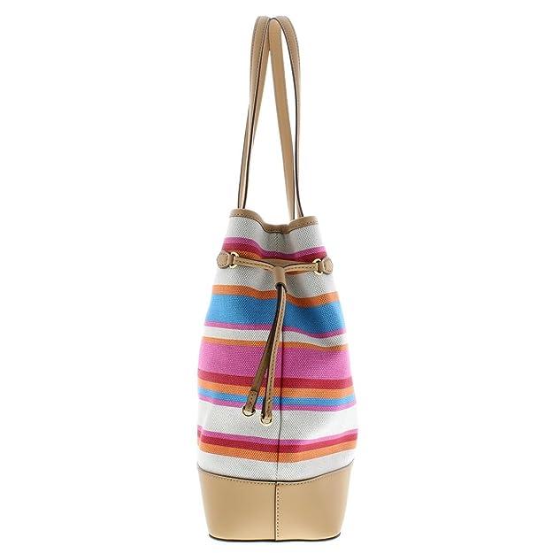 Amazon.com  Lauren Ralph Lauren Womens Piedmont Adalyn Striped Tote Handbag  Multi Large  Shoes 0a9a5ce8c03d7