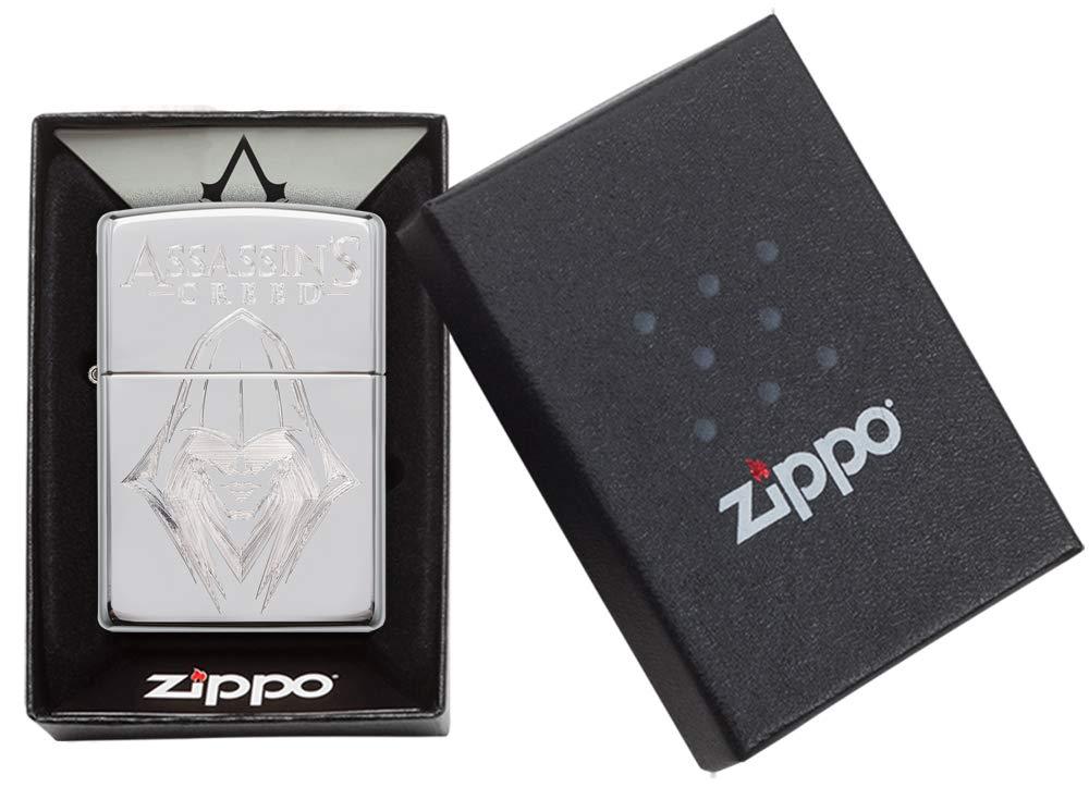 Zippo Assassins Creed Briquet Coupe-Vent Unisexe Chrom/é