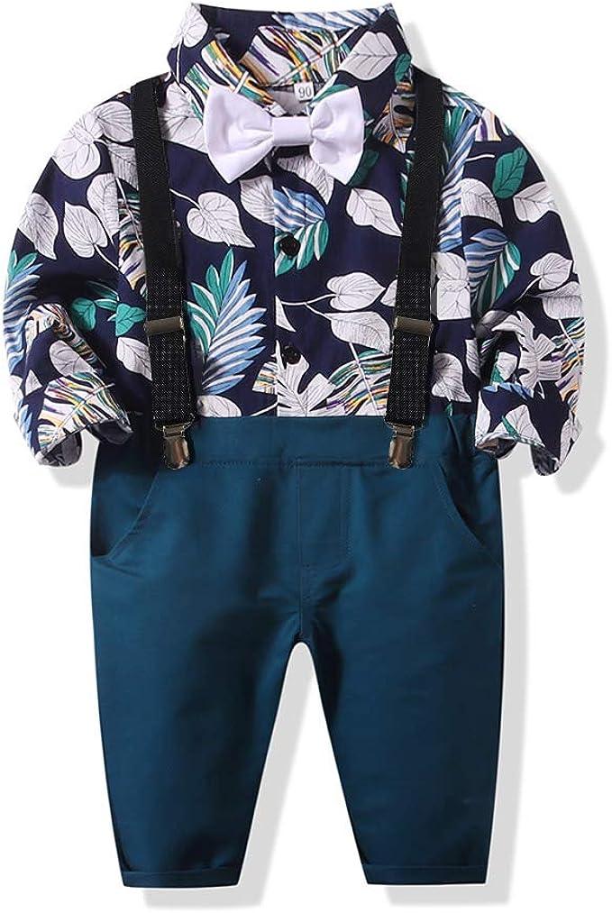 Amazon.com: Bebé Niños Caballero Rayas Camisa Bowtie ...