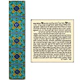 TALISMAN4U Jewish Mezuzah Case with Scroll Blue