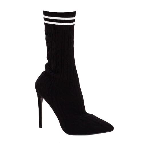 Toocool - Stivali donna stivaletti a calzino a punta scarpe tacco spillo  nuovi HP-48  37 4296283afed