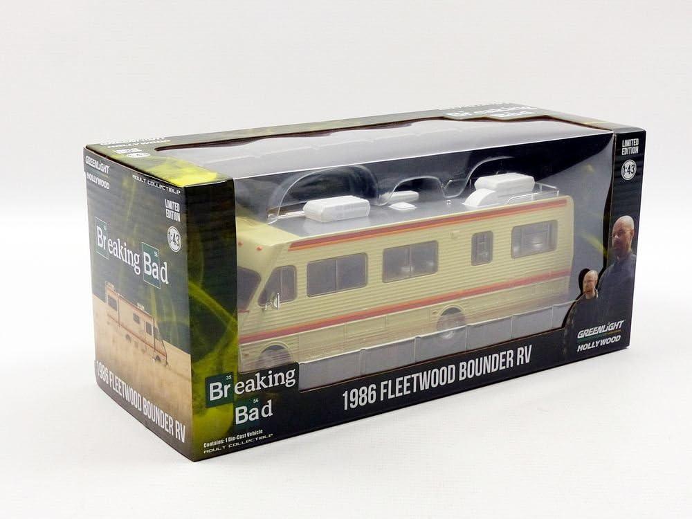 colori assortiti 86500 Greenlight fleetwood Bounder RV-breaking bad-1986-in scala 1:43 veicolo in miniatura da collezione