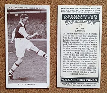 Churchman Association Footballers Series 2 Churchman Footballers 2nd