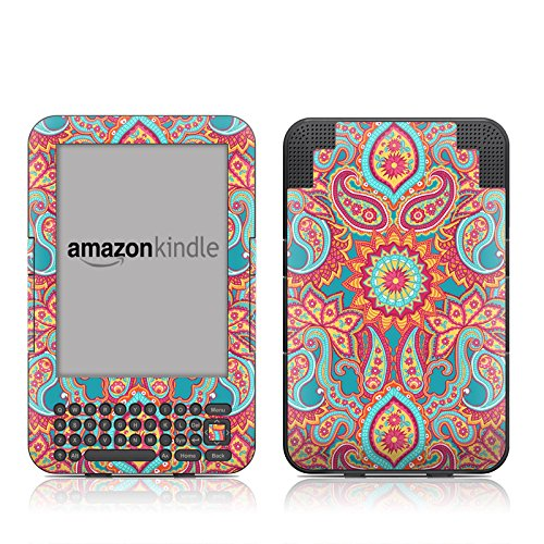 3g Faceplate (Carnival Paisley Design Protective Decal Skin Sticker for Amazon Kindle Keyboard / Keyboard 3G (3rd Gen) E-Book Reader - High Gloss)
