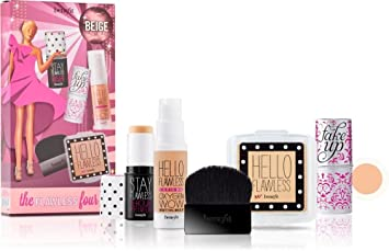 6fa3a9064a2 Amazon.com : Benefit Cosmetics The Flawless Four Set in Beige : Beauty
