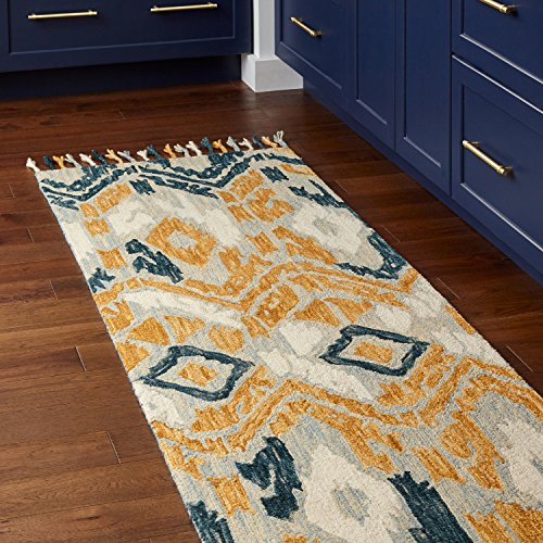 (Stone & Beam Modern Global Ikat Wool Runner Rug, 2' 6