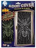 Glow in the Dark Spider in Web Door Cover Poster Halloween Decoration Prop