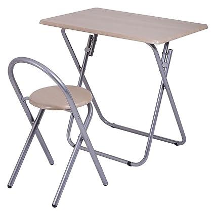 2PCS Kids Study Writing Desk Table Chair Set Work Folding Home School Furniture  sc 1 st  Amazon.com & Amazon.com: 2PCS Kids Study Writing Desk Table Chair Set Work ...
