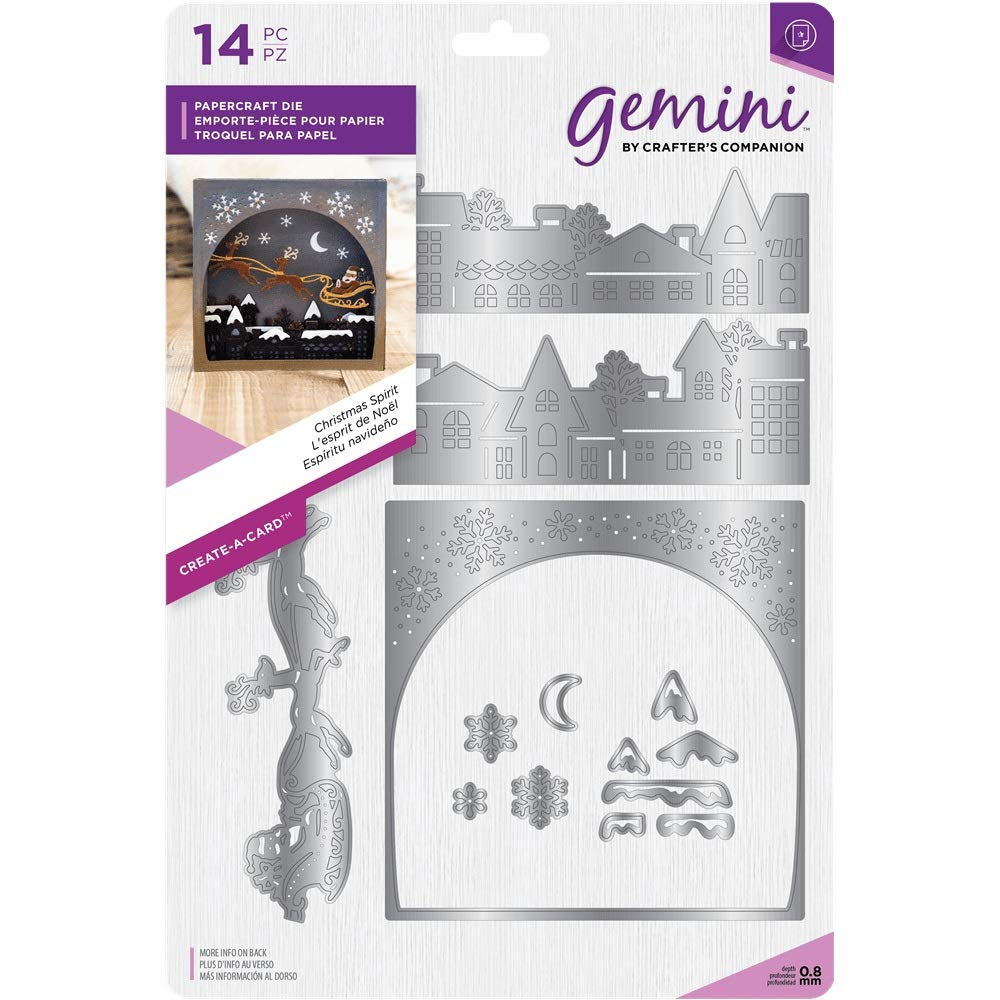 Gemini Create a Card Craft Metal Papercraft Christmas Die - Christmas Spirit